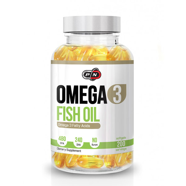 PURE NUTRITION - OMEGA 3 FISH OIL - 200 ДРАЖЕТА