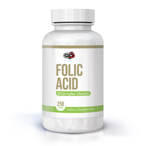 PURE NUTRITION - FOLIC ACID - 800 MCG + B-12 - 250 ТАБЛЕТКИ