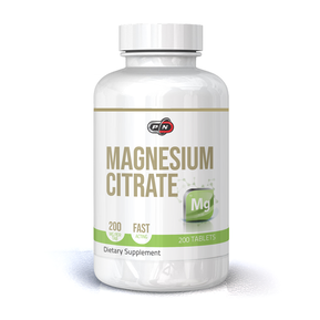 PURE NUTRITION - MAGNESIUM CITRATE - 200 МГ - 200 ТАБЛЕТКИ