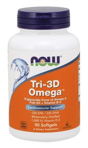 NOW - TRI-3D OMEGA - 90 SOFTGELS